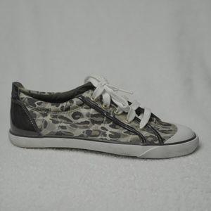 Coach Cheetah Print Dark and Light Brown Shoes